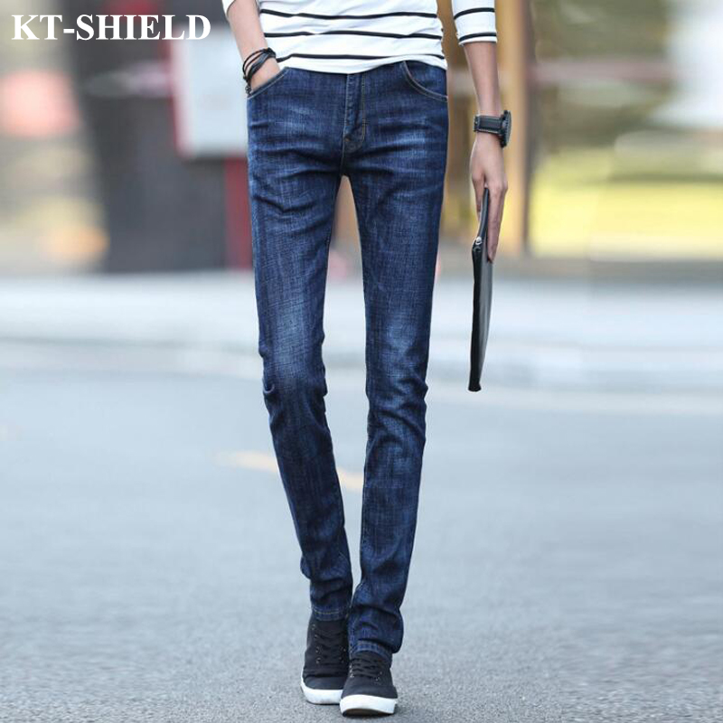 Spring New Jeans Men Slim fit Denim Jeans Trousers Size 28 36 Cotton Blue Pants Fashion