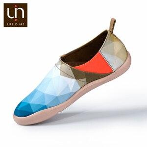 Image 4 - UIN sabah orijinal tasarım boyalı kanvas ayakkabılar erkekler moda makosen ayakkabılar geniş ayak mavi Sneakers hafif konfor rahat ayakkabılar