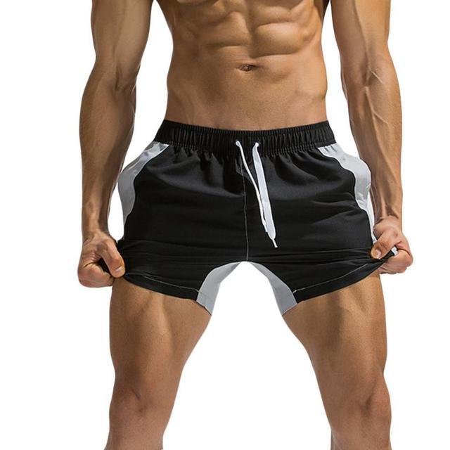 3c00edd056 Mens Breathable Swim Trunks Pants Swimwear Shorts Wear Briefs Stitching  Color Beach Shorts Boardshorts Swimsuit Maillot De Bain