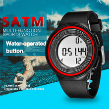 Men Watches 3D Pedometer Luxury Brand Mens Sports Watch Digital LED Watch Fashion Casual  Wristwatches clock 50meters waterproof brand men watch guanqin luxury watches fashion casual sports wristwatches boy mechanical watch leather waterproof clock gj16025
