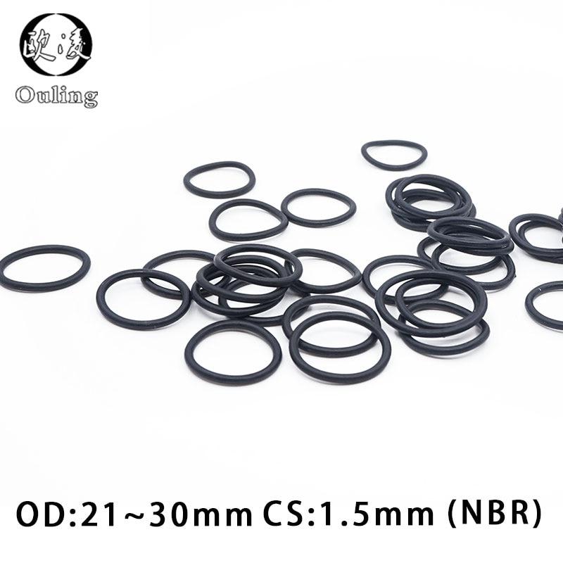 O-Rings Nitrile Rubber 3mm x 5mm x 1mm Seal Rings Sealing Gasket 20pcs