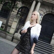 2016 Warm autumn&winter Noble Elegant real rabbit fur coat women o-neck fashion slim real fur coat women free shopping QS-66
