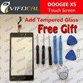 Doogee x5 pantalla táctil + herramientas set de regalo 100% original ensamblaje del panel de cristal digitalizador reemplazo para doogee x5 teléfono celular