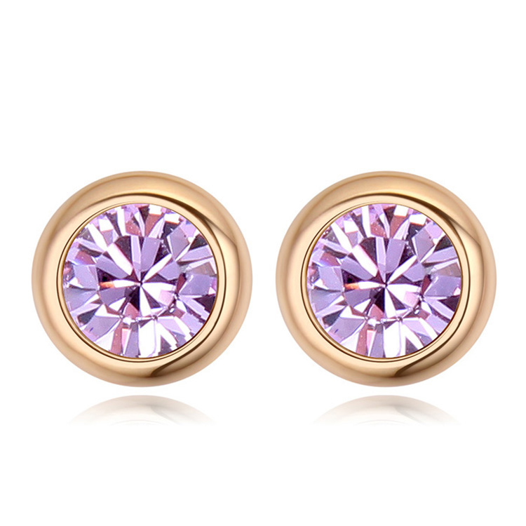 cddf626c8 Crystals From Swarovski Fashion Round Stud Earrings Brincos Jewellery  Bijoux Gold Color Earrings For Women Man-in Stud Earrings from Jewelry &  Accessories ...
