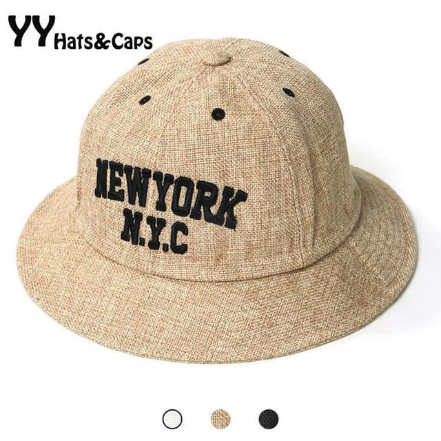 New York City Bucket Hats For Men Summer Bucket hip hop Women Vintage bob  Chapeau Black Beige White Bucket Hat 2015 YY0275 e638e3c50