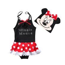 2Pcs Toddler Kids Baby Girls Tankini Minnie Swimwear Swimsuit Bikini Set Bathing Suit