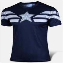 Captain America 2 short sleeve T-shirt brand Men's fashion T-shirt with short sleeves anime surrounding the wholesale and retail