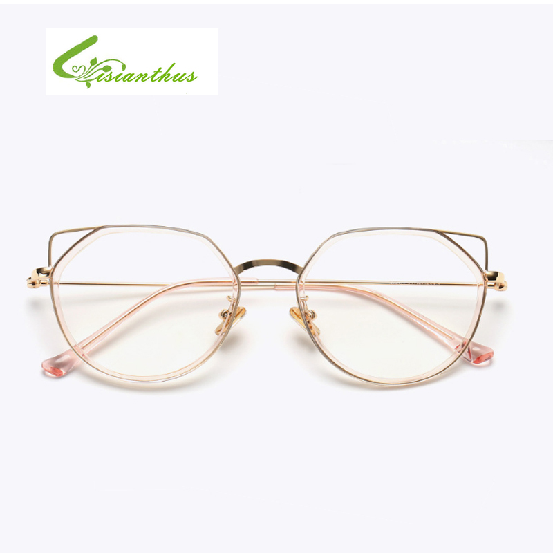f3100dd0838aa 2018 Fashion Cat Eye Glasses Women Transparent Eyewear Brand Designer  Vintage Clear Eyeglasses Hollow out cateye Glasses Frame-in Sunglasses from  Women s ...