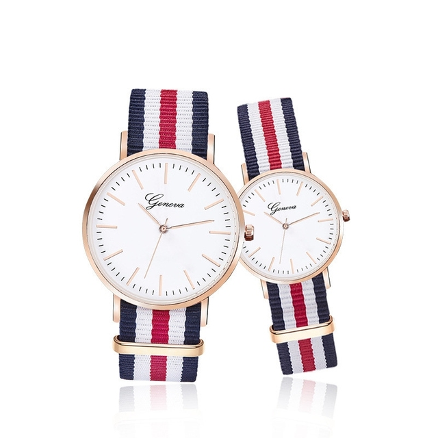 Drop Shipping Watches Men Women Ultra Slim Quartz Watch with Simple Nylon Band L