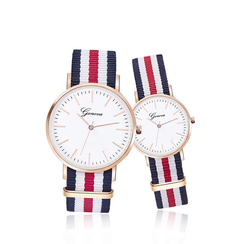 Drop Shipping Watches Men Women Ultra Slim Quartz Watch with Simple Nylon Band Lovers Watch Relogio Masculino Wristwatches Clock