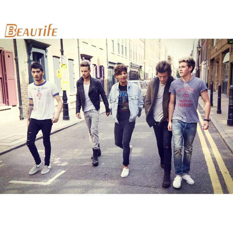 Hot Sale Custom  One Direction Poster Home Decoration Fashion Silk Fabric Wall Poster Custom  Poster