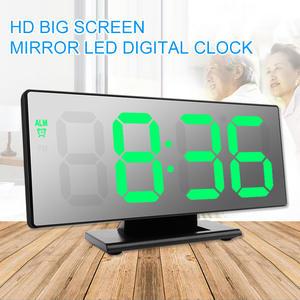 Alarm-Clock Digital Table Snooze-Display Time-Night-Lcd-Light Desktop Multifunction LED