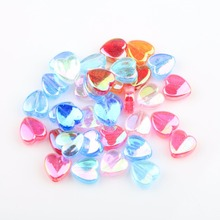 Wholesale 200pcs/lot 8*4mm Heart Patterned Acrylic Beads Fashion Transparent Jewelry Spacers for DIY Making Drop Shipping