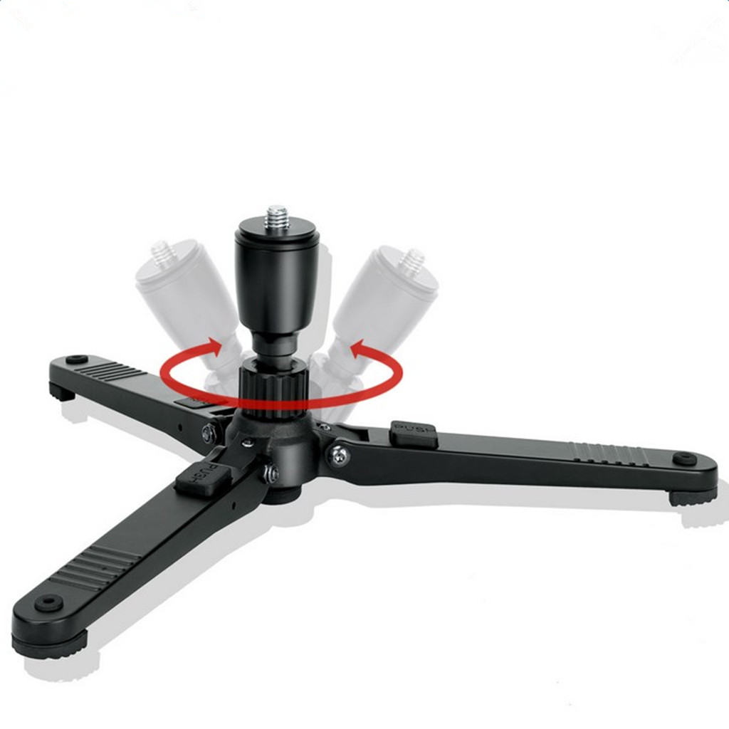 """Kingjoy M3 Professional Aluminum Universal 360 Degree Rotating Camera Monopod Base With 3/8"""" Screw 30KG Load For Supporting"""