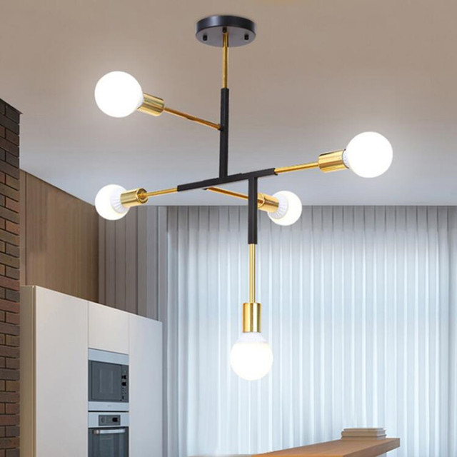 Interior moderno colgante luz hierro metal Nordic lámpara living ...