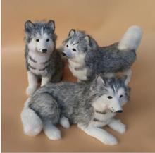 цена на WYZHY simulation animal simulation husky dog plush toy creative pet model photography window props children early education
