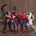 1 Pcs The Amazing Super Hero Spiderman Action Figure Set PVC 15 CM Marvel Legends Universe Black Venom Lizard Model Toy For Boys