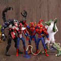 1 pcs the amazing spiderman super hero action figure set pvc 15 CM Marvel Legends Universo Preto Veneno Lagarto Toy Modelo Para meninos