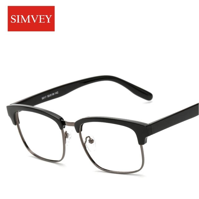 066c795dbf29 Simvey Fashion Classic Retro Half Frame Glasses Women Mens Vintage Designer  Square Frame Glasses TR90 Eyeglasses Frames