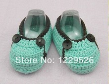 crochet baby shoes Infant First Walkers shoes Toddler shoes handmade blue booties for babies as Birthday Gift
