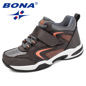 Image 2 - BONA New Arrival Classics Style Children Casual Shoes Synthetic Girls Sneakers Shoes Hook & Loop Boys Loafers Free Shipping