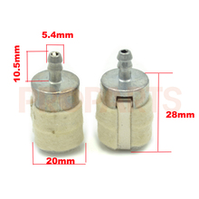 2PCS Chinese 4500 5200 5800 45CC 52CC 58CC Petrol Chainsaw Fuel Filter with Cotton