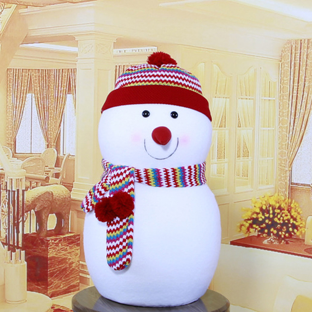 rainbow hat lovely toy snowman decoration family best christmas gifts decorations christmas snowman ornament home party