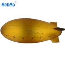 AO371 Бесплатная доставка 6 м золотой надувные дирижабль Zeppelin с золотой хвост/прозрачный/clear дирижабль для надувные