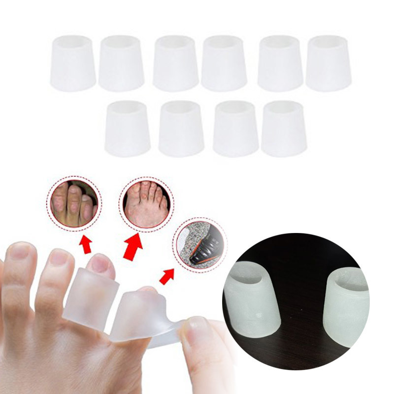10pcs/5pairs Orthotic Silicone Gel Toe Tube Blisters Corrector Pinkie Protector Gel Bunion Toe Finger Separation Protection Gel(China)