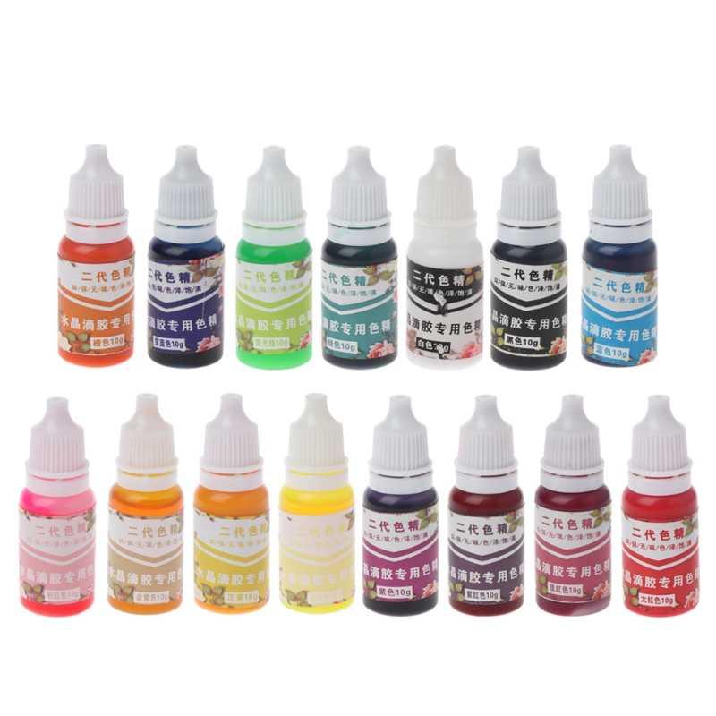 เรซิน UV Ultraviolet Curing Resin Liquid Pigment Dye Handmade Art Craft 15 สี