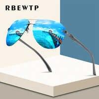RBEWTP-gafas de sol clásicas con marco de aleación para hombre, lentes de sol con revestimiento polarizado, con marco de espejo, para dama A143