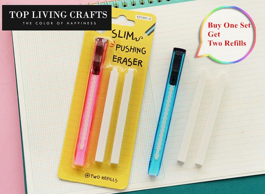 Scalable Refills Cute Eraser Set Have Two Refills Office School Cute School Kawaii Material Office Supplies