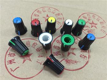 15 sztuk D otwór pół-potencjometr osi plastikowa gałka czapki W11 5MM * H16MM 2 sztuk żółty + 2 sztuk biały + 2 sztuk czerwony + 2 sztuk niebieski + 2 sztuk zielony tanie i dobre opinie lot (15 pieces lot) 0 12kg (0 26lb ) 13cm x 9cm x 9cm (5 12in x 3 54in x 3 54in)