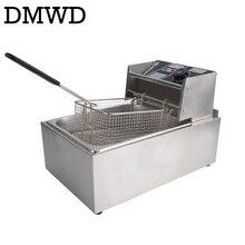 DMWD электрическая фритюрница многофункциональная Коммерческая нержавеющая сталь гриль печь курица картофель фри Обжарка на масле машина горячий горшок 6L