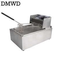 DMWD Electric Deep Fryer Multifunction Commercial Stainless steel Grill Oven Chicken French Fries Oil Frying Machine Hot Pot 6L
