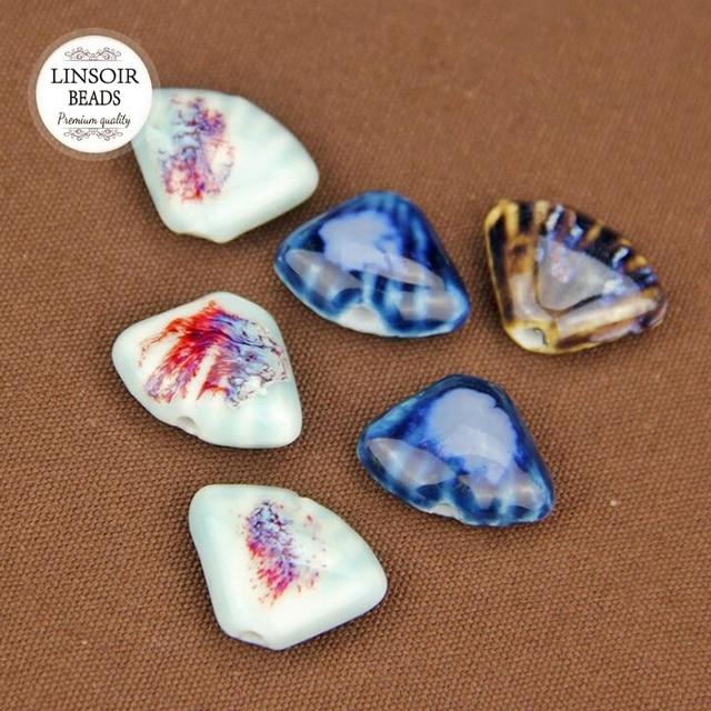 eaa639a12f40 10 unids lote cuentas de cerámica Diy cuentas sueltas de porcelana hechas a  mano encantos