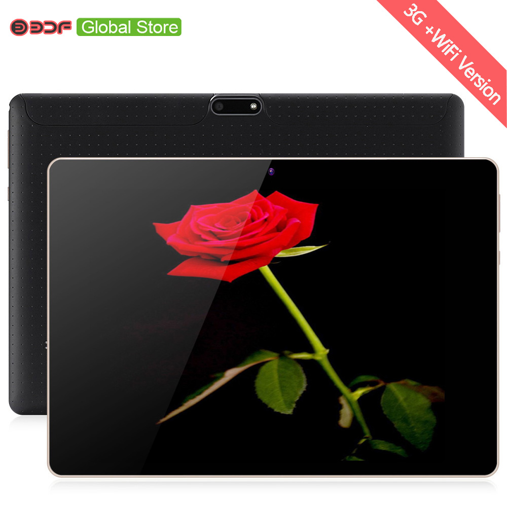10 Inch 3G Mobile Phone Call SIM Card Tablets Pc Android 7.0 Quad Core 4GB+32GB Tablet Pc Built-in 3G WiFi GPS Bluetooth FM IPS