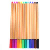 YDNZC 12 Farben/Set 0,4mm Fineliner Kunst Mark Stift Aquarell Stift Linie Zeichnung Stift Faser Hub Stift für skizzieren Malerei