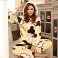 Mickey Flannel Pajamas Set Winter Sleepwear Female Thickening Warm Coral Fleece Lovely Cartoon Primark Pajamas Household To Take
