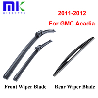 Combo Front And Rear Wiper Blades For GMC Acadia 2011 2012 Windscreen Rubbers Wipers Car Accessories