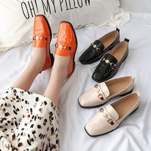 Patent leather Penny loafers women flats shoes