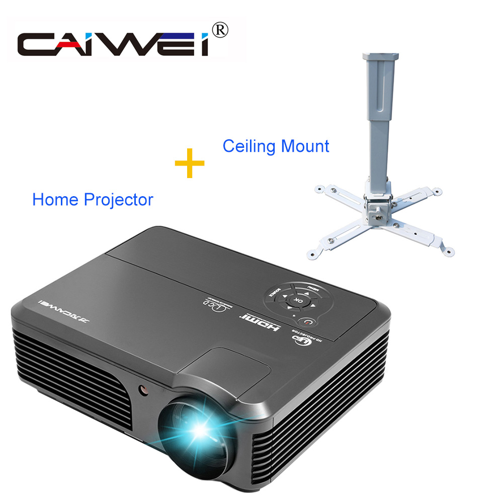 Caiwei Home Use Dvb T2 Projector Led Lcd Digital Tv: CAIWEI LED Projector Home Theater Beamer HD 1080p Movie TV