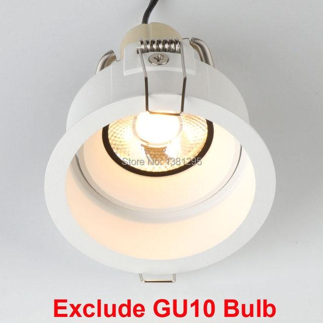 3 led recessed lighting edge downlight gu10 fitting swiveli spot led recessed light mounting frame ceiling fixture mr16 gu53 base socket holder round square online shop