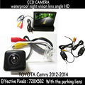 Vídeo HD Auto estacionamiento Monitor de, LED de visión nocturna CCD del Rearview del coche de la cámara con 4.3 coche espejo retrovisor con Monitor para Toyota camry