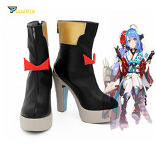 Azur Lane USS Helena Shoes Cosplay Boots High Heel Custom Made