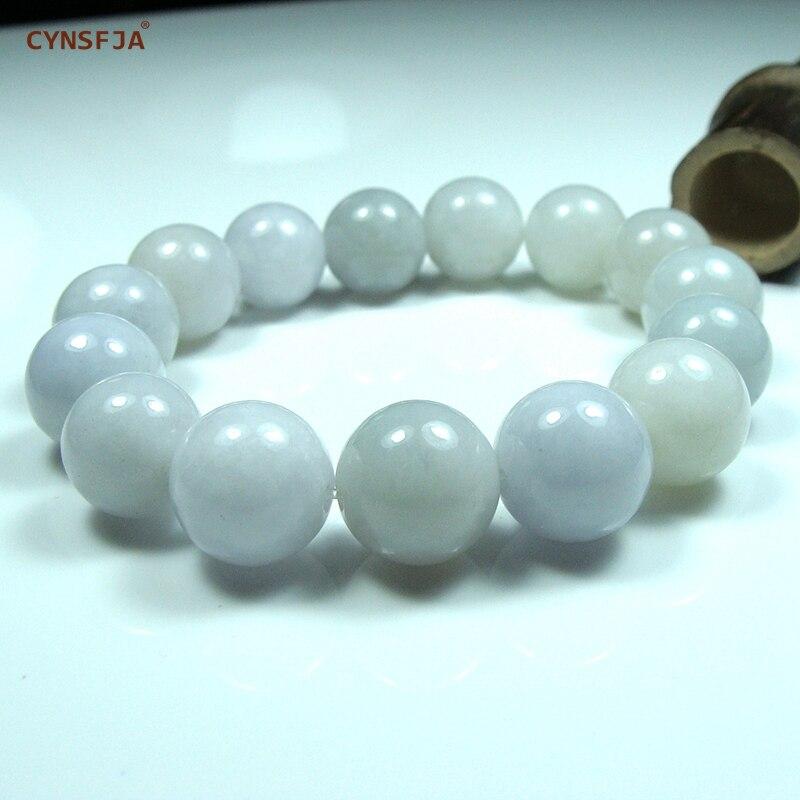 Myanmar Émeraude Bracelets Bracelet Charm Bracelet Perles Jade Naturel Certifié Grade Birman Jadéite Lumière Haute Qualité Cadeaux