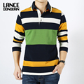 Plus size M-XXXXL brand men Long Sleeve Polo New Arrivel Fashion Cotton Anti-Wrinkle striped New 2016 Spring