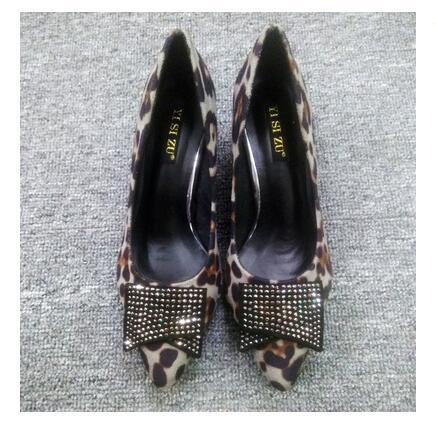 Peu Européenne heel Pompes Femme Heel Américain Automne Chaussures 2018 Hot Pente Bouche Sexy Des 5cm Léopard Cales Cristal 8cm 8cm Pointu Profonde Choisit heel ABFPwx78q