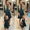 2017 vestido de otoño vestidos a juego de ropa de la familia de madre e hija madre hija mira mamá y yo ropa vestidos tallas grandes