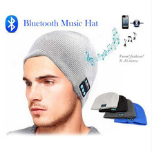 8491319fafc 2017 HOT Beanie Hat Cap Wireless Bluetooth Earphone Smart Headset headphone Speaker  Mic Winter Outdoor Sport Stereo Music Hat